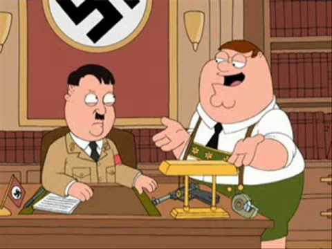 family guy - peter griffin and uncle adolf hitler
