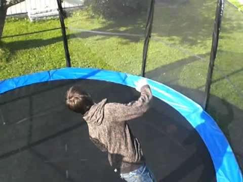 eilif on trampoline