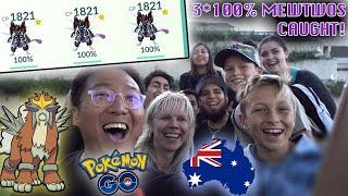 WORLD NO.1 PLACE FOR 100IV MEWTWOS!!! SHINY ENTEI DAY! - Brisbane, Australia