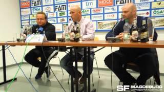Pressekonferenz - 1. FC Magdeburg gegen FSV Wacker 90 Nordhausen 1:0 (1:0) - www.sportfotos-md.de