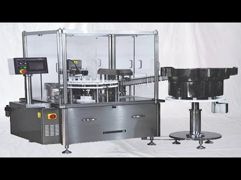 Syringe filling machine 6 heads filler sealer equipment with delivery elevator&caps sorting system