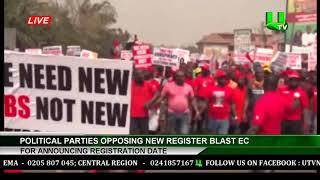 Political Parties Opposing New Register Blast For Announcing Registration Date