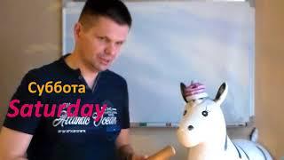Ослик Ингвоксик учит дни недели на английском