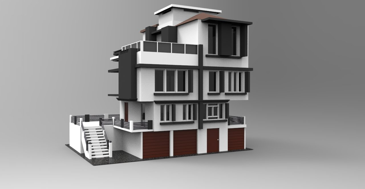 Modeling modern house 3ds max tutorial part - 1