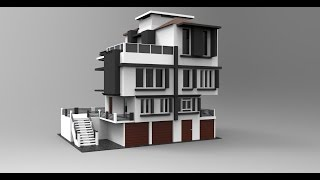 Modeling modern house 3ds max tutorial part - 1(Keyshot render Facebook: www.facebook.com/thePhotoBots Twitter: https://twitter.com/Roomiur Subscribe now friends...........!!!, 2015-10-26T11:35:23.000Z)