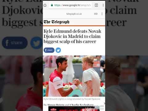 Novak Djokovic lost to Kyle Edmund - news screenshots