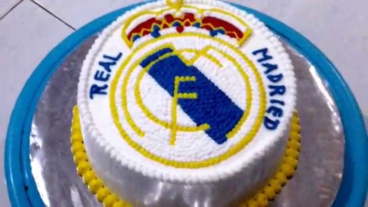 Birthday Cake Images Real : Other Real Madrid Cake Birthday Theme - YouTube