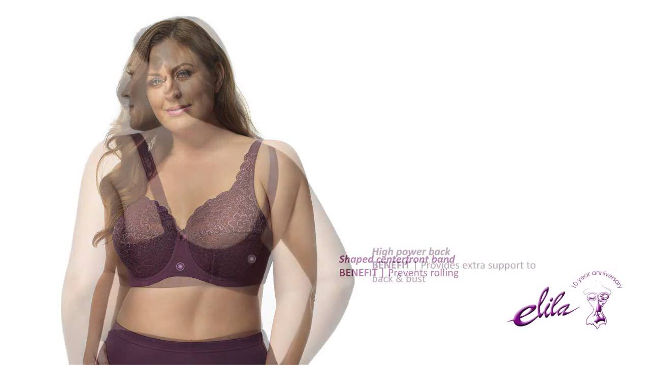 8d88017569d Elila Full Coverage Stretch Lace Underwire Plus Size Bra - Style 2311