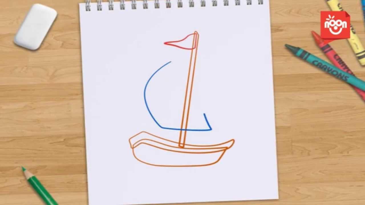 #قناة_نون   لنرسم معا - القارب