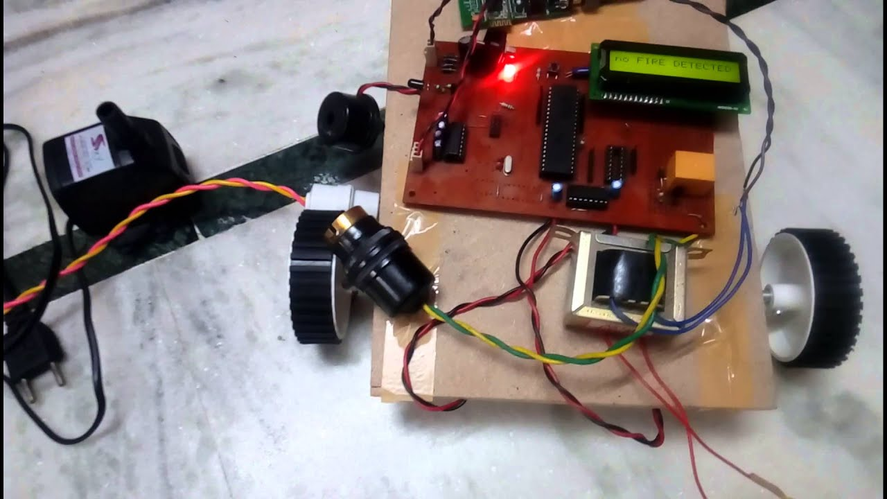 Wireless Fire Fighting Robot Automatic Using Pulse Counter Circuit Embedded Systems Projects Ideas Edgefx Android App