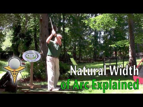 Natural Width of Arc Explained in the Golf Swing