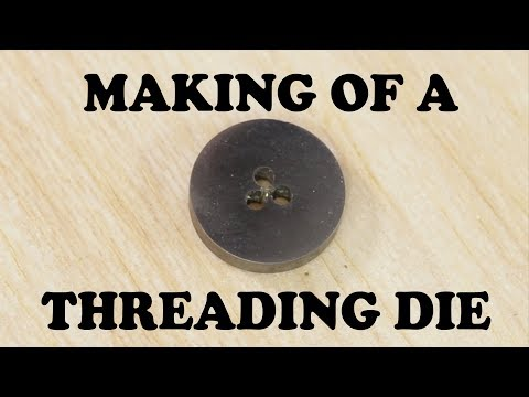 How to make a Thread Cutting Die from Scratch - Watchmaking Vlog #12