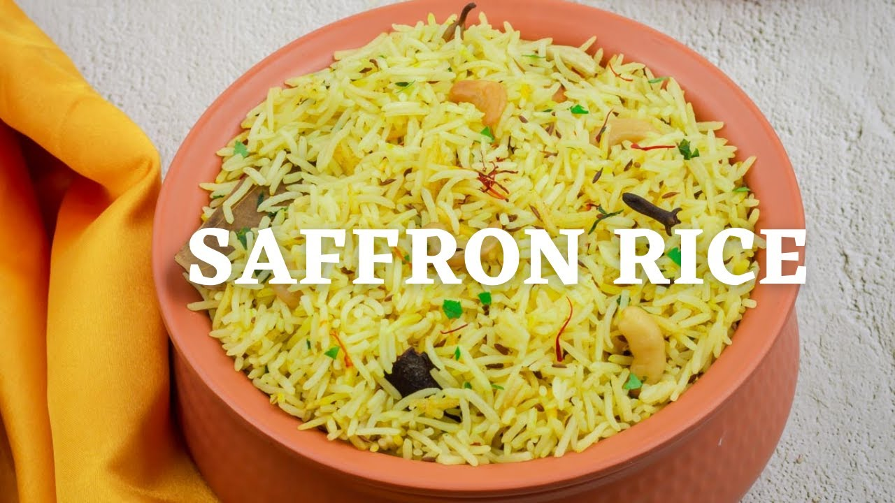 Easy Saffron Rice Recipe Quick And Easy Vegetarian Rice Recipe Youtube