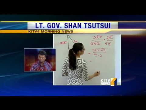 KITV4 talks with Lt. Governor Shan Tsutsui about the REACH program