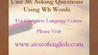 unit 30 asking questions using wh words part 1 in english