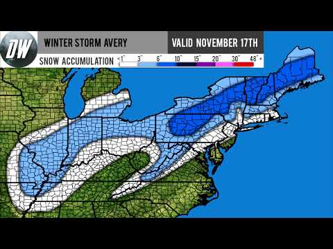Winter Storm Avery Forecast