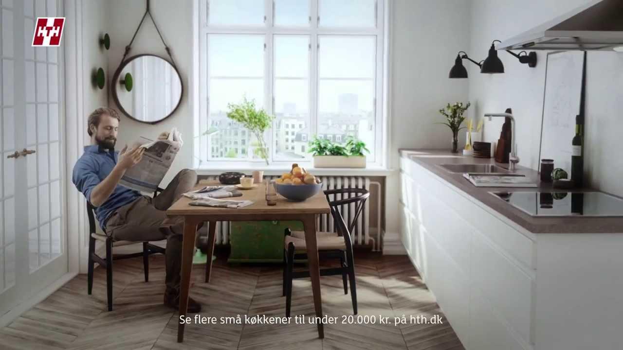 Et lille køkken kan blive storslået for mindre end 20.000 kr. - YouTube