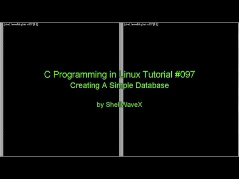C Programming in Linux Tutorial #097 - Creating A Simple Database