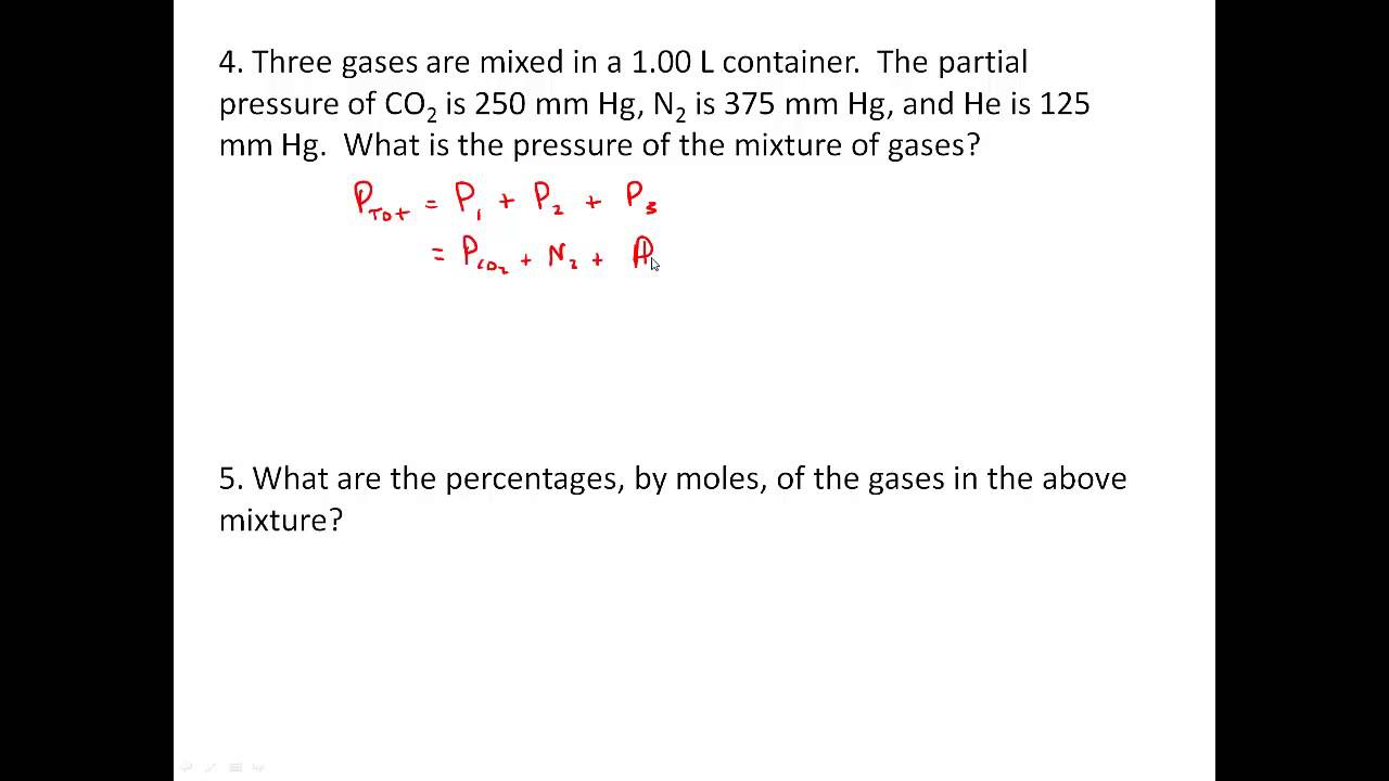 Gas Law Practice Worksheet YouTube – Combined Gas Law Problems Worksheet