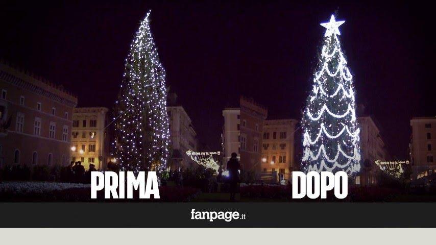 Albero Di Natale Roma.A Roma L Albero Di Natale Piu Brutto D Italia E Il Comune Corre Ai Ripari