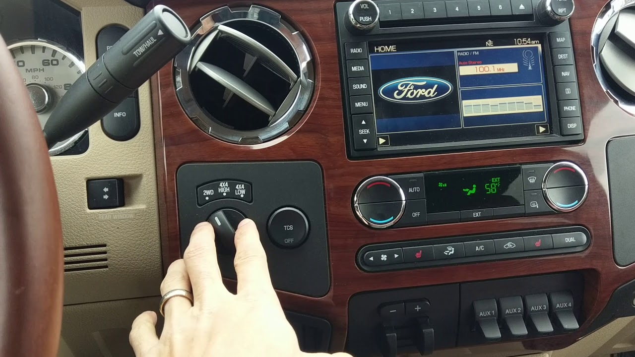 2010 Ford F250 King Ranch Interior Look