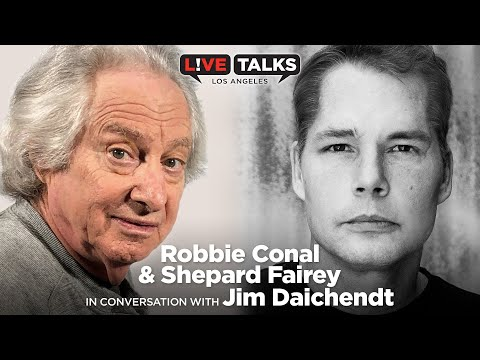 Robbie Conal & Shepard Fairey in conversation with Jim Daichendt at Live Talks Los Angeles