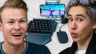 we HACKED our phone into a console - play fortnite like ninja & tfue on PS4