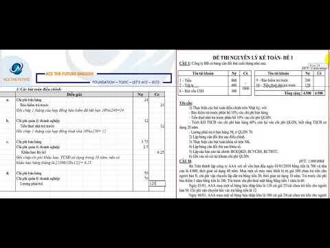 Giải đề NGUYÊN LÝ KẾ TOÁN K44- UEH-ĐỀ 2