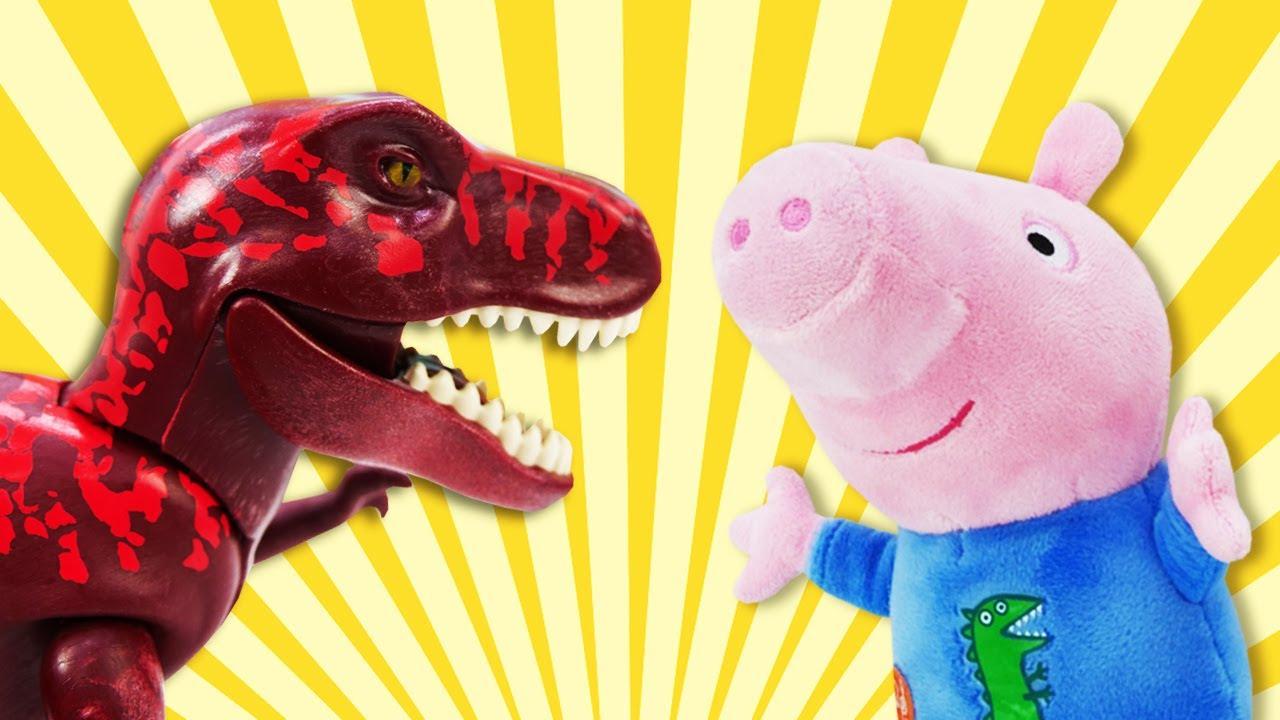 Peppa jurássica! A Peppa Pig construiu uma máquina do tempo! Peppa Pig e George em português