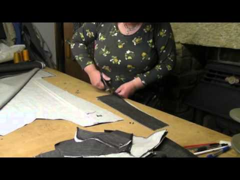 Sewing Tutorial - Making Jeans Part 1 - Pattern Cutting - YouTube