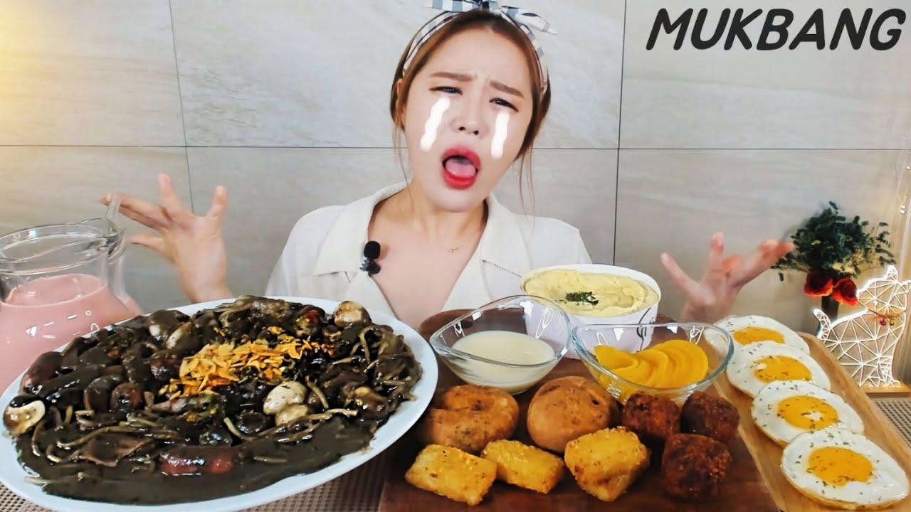 SUB) 원칩떡볶이 핫블랙투움바 모짜렐라치즈아란치니 달토끼의 떡볶이흡입구역 먹방 Spicy black tteokbokki spaghetti MUKBANG ASMR yummy eat