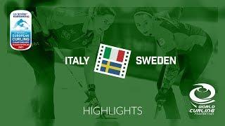 HIGHLIGHTS: Italy v Sweden - Women Semi-final - Le Gruyère AOP European Curling Championships 2017