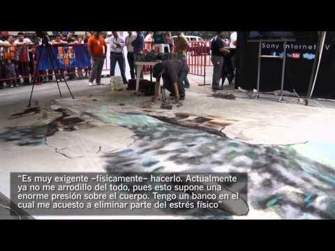 Julian Beever, el Picasso del pavimento en Guayaquil
