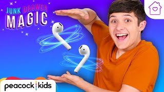 Floating Headphones Trick | Kids Magic at Home | JUNK DRAWER MAGIC #stayhome #withme