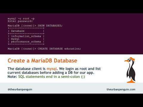 Create MariaDB Database And User