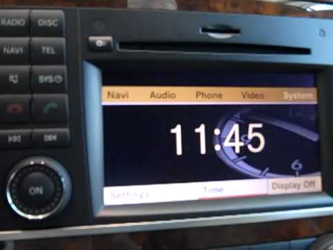 How to set the mercedes r ml and gl class clock to for Mercedes benz euro motorcars germantown