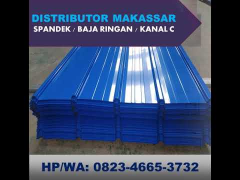 Supplier Baja Ringan Di Makassar Hp Wa 0823 4665 3732 Jual Spandek Warna Youtube