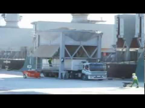 unloading a palm kernal ship