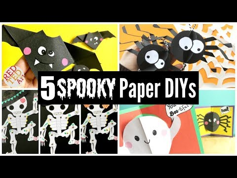 5 SPOOKY Paper Halloween DIYs - Great Paper Room Decor & Gift Ideas Halloween