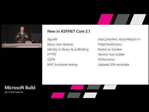 What's new in Web Development with ASP.NET Core 2.1 : Build 2018
