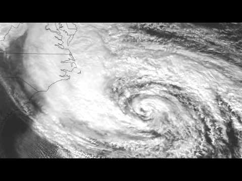 Hurricane Sandy time-lapse from  NOAA's GOES-14 satellite geostationary orbit  22,300 miles up