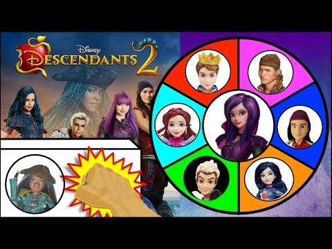 DESCENDANTS 2 Dolls & Toys Spinning Wheel Game | Surprise Toys Kids Games