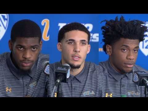 Download Youtube: UCLA players LiAngelo Ball, Jalen Hill, Cody Riley suspended indefinitely [press conference] | ESPN
