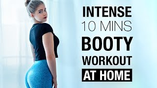 10 mins BOOTY & Legs (Glutes Focused) Workout AT HOME !