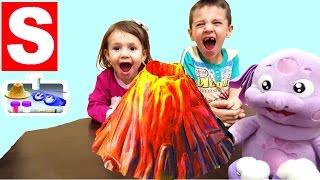 Игрушка для Детей  Извержение Вулкана с Лунтиком Toy for Children the Eruption of a Volcano(Игрушка для детей Извержение Вулкана распаковка и обзор. Мисс Сая и ее братик Шамильчик вместе с игрушкой..., 2016-04-12T17:49:20.000Z)