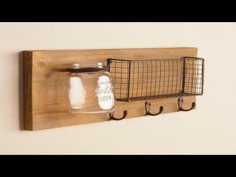 Best DIY Wood Wall Organizer Ideas