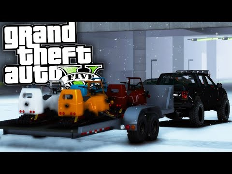 Delivering Snowmobiles! - GTA 5 Real Hood Life 2 - Day 22