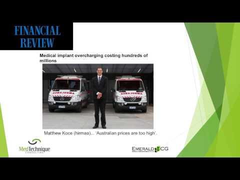 Australian Medical Technology Reimbursement Update - Latest Issues