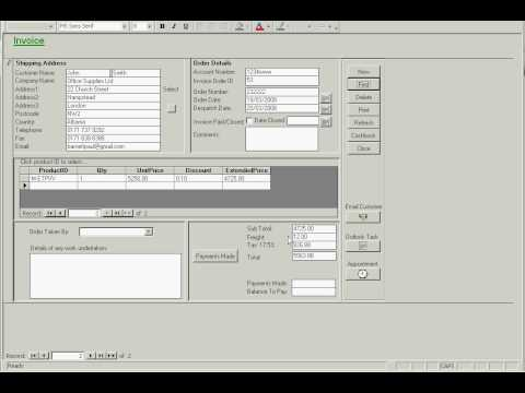 MS Access Invoicing and Quotation Billing Application   YouTube MS Access Invoicing and Quotation Billing Application