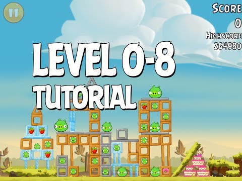 Angry Birds Tutorial Level 0-8 Walkthrough 3 Star